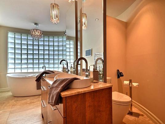 Salle de bain douceur lavande
