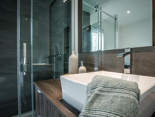 Salle de bain minéral