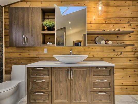 Salle de bain & salle de lavage bois sur bois