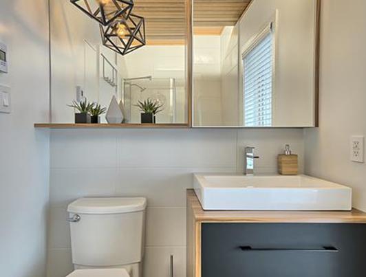Salle de bain l'antimatière